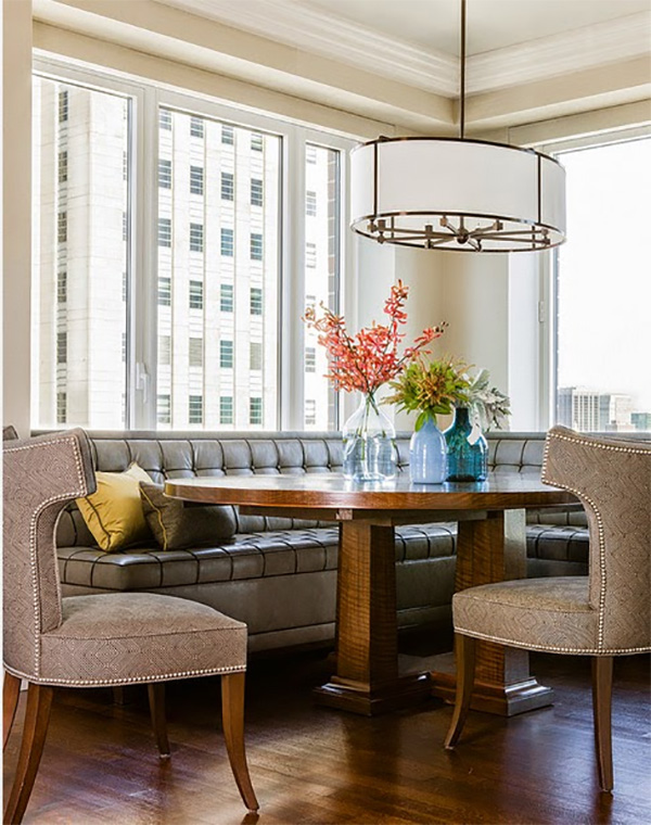 Interiors by jacquin: maximizing space with stylish banquette seating