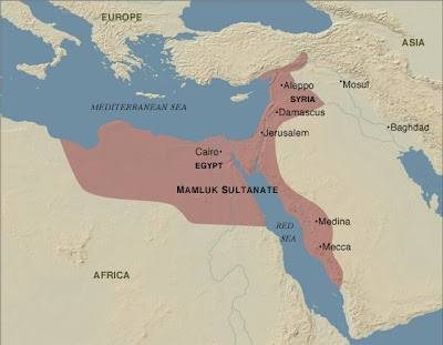 peta daerah kekuasaan dinasti mamluk