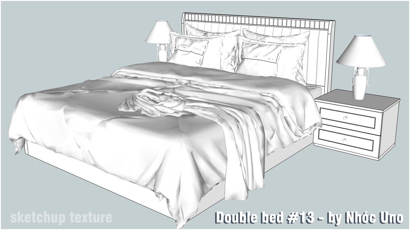 Sketchup Texture Free Sketchup 3d Model Double Bed 13