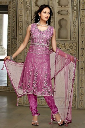 Fresh-Light-Purple-Net-Churidar-Kameez
