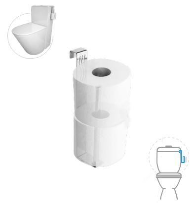 portarrollo papel higienico colgar cisterna