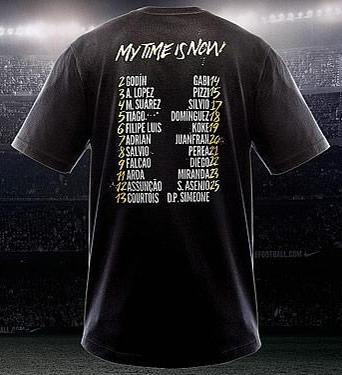 camiseta conmemorativa de la final del Atlético de Madrid Campeones de Europa League 2012 nombres de jugadores