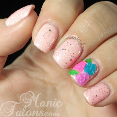 3D Rose Nail Art with Bundle Monster 3D Modeling Gel