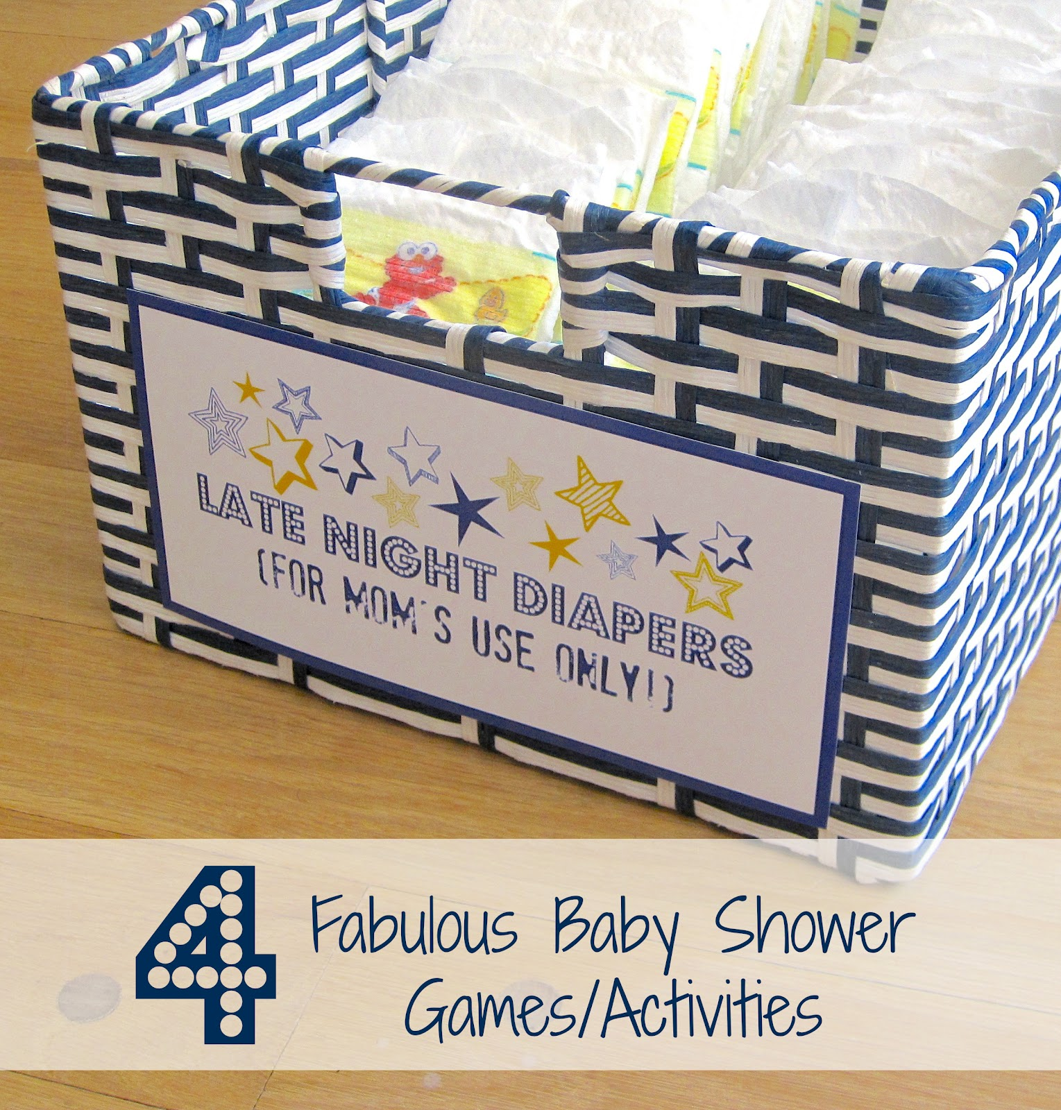 New by Four Driven & Fabulous Baby - Decor Games Shower Activities 874