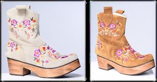botas con flores
