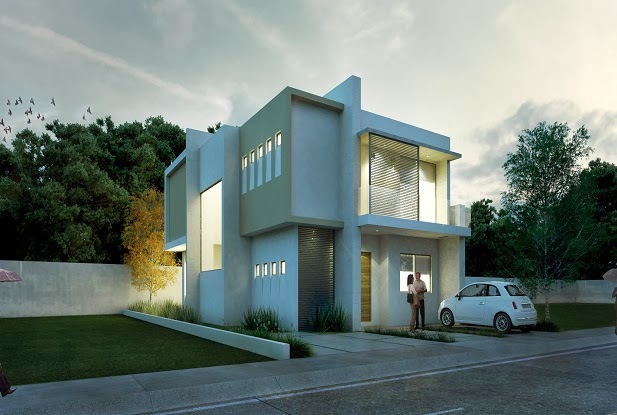 Fachadas minimalistas casa minimalista modelo obaren en for Casa modelo minimalista