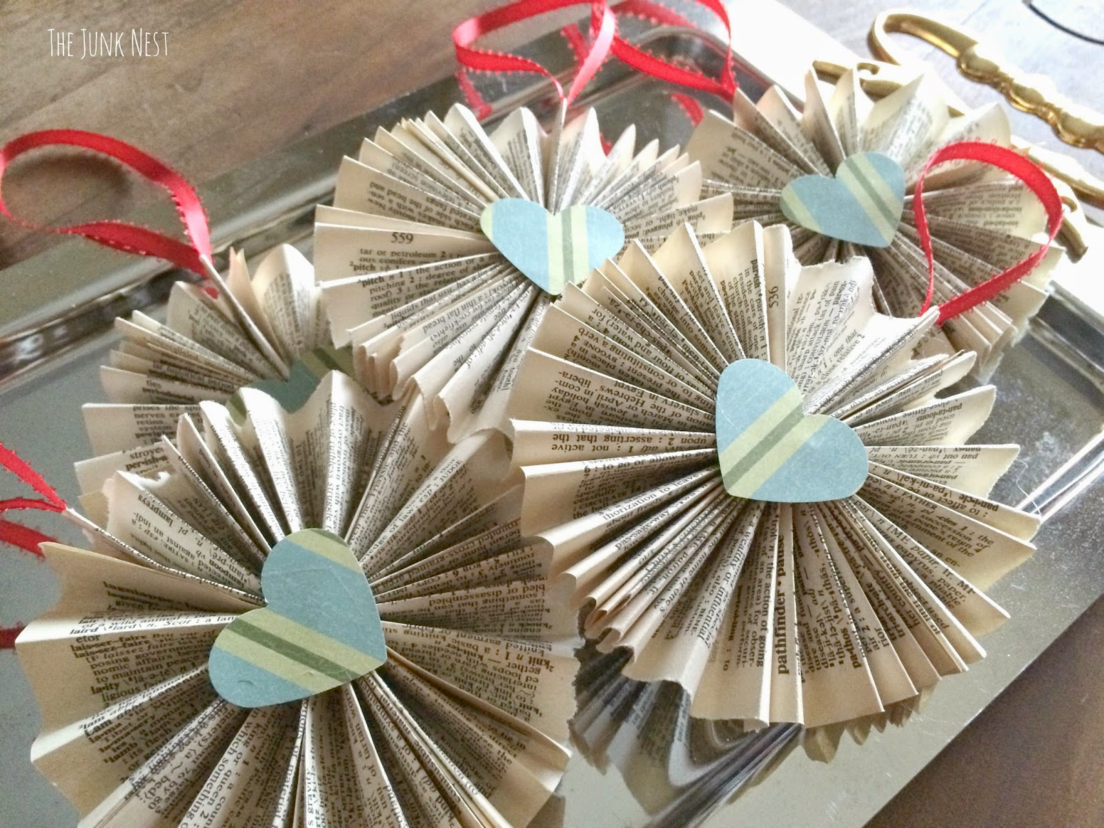 DIY Book Page Ornaments
