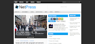 NetPress Blogger Template is a Tech Related Blogger Template
