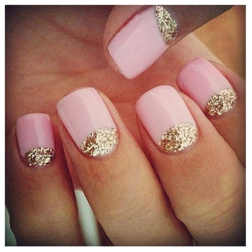 Nail design with pink and gold colorful nail designs for every nail design with pink and gold lush fab glam azine fun summer nail colors with prinsesfo Images