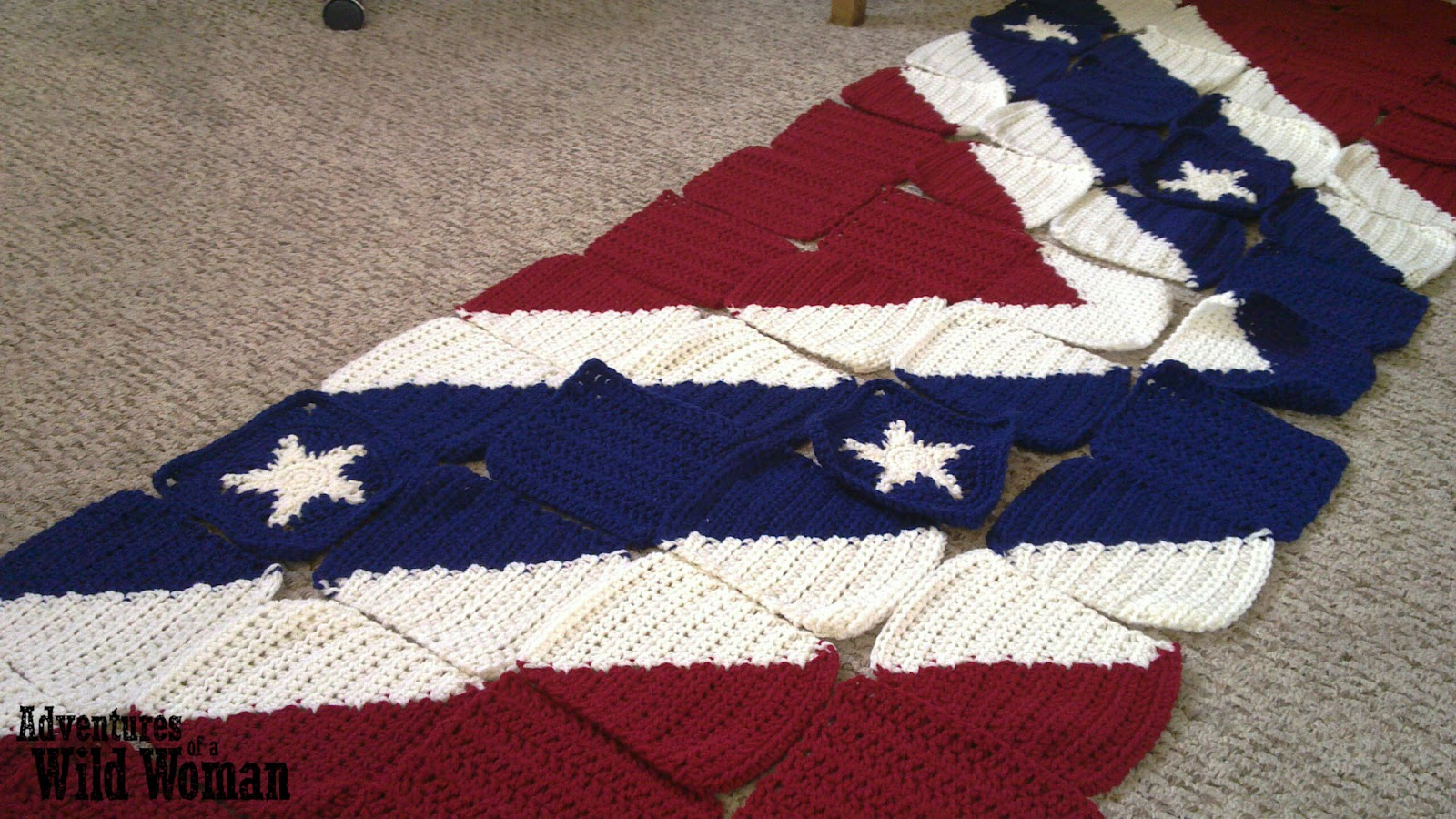 Adventures Of A Wild Woman Crochet Confederate Flag Blanket