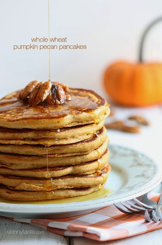 Whole Wheat Pumkin Pecan Pancakes