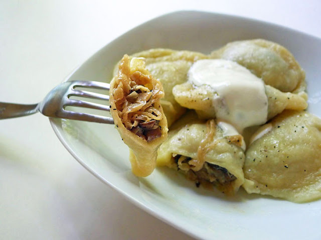 ... pierogi are a nice alternative to the ones with potato and cheese