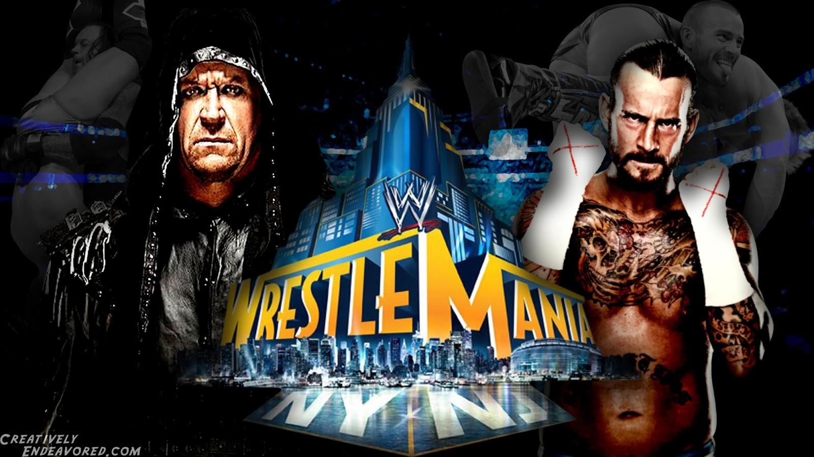 all wallpapers cm punk vs undertaker wrestlemania 29