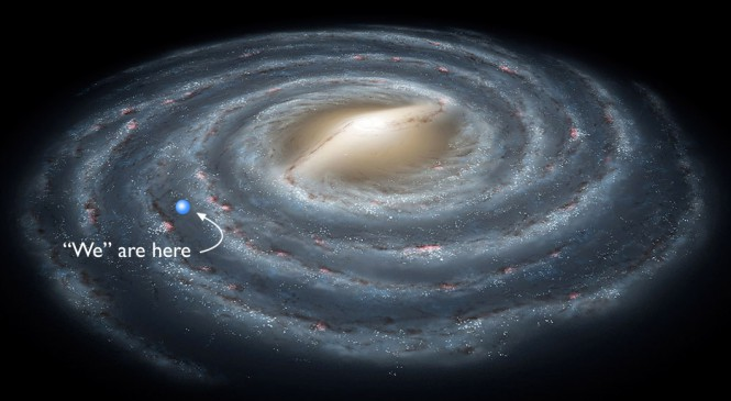 actual solar system including milky way - photo #32