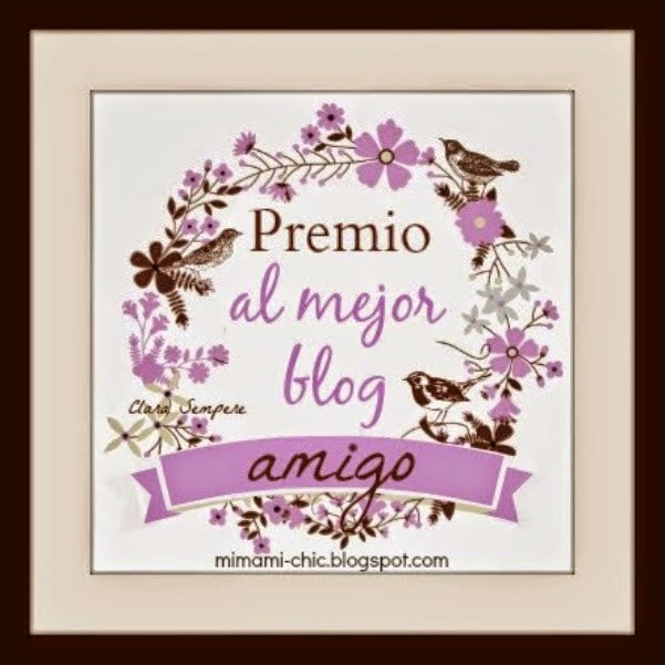 Premio al mejor blog amigo: