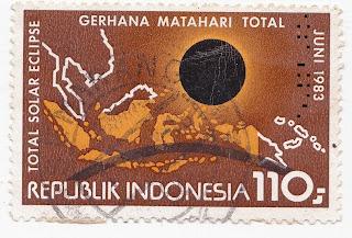 Perangko Peringatan Gerhana Matahari Total 1983 - Koleksi Pribadi