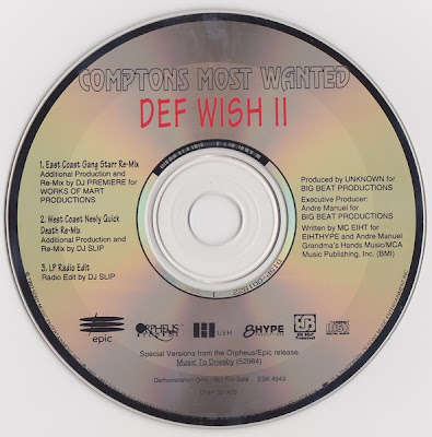 Compton's Most Wanted – Def Wish II (Promo CDS) (1992) (320 kbps)