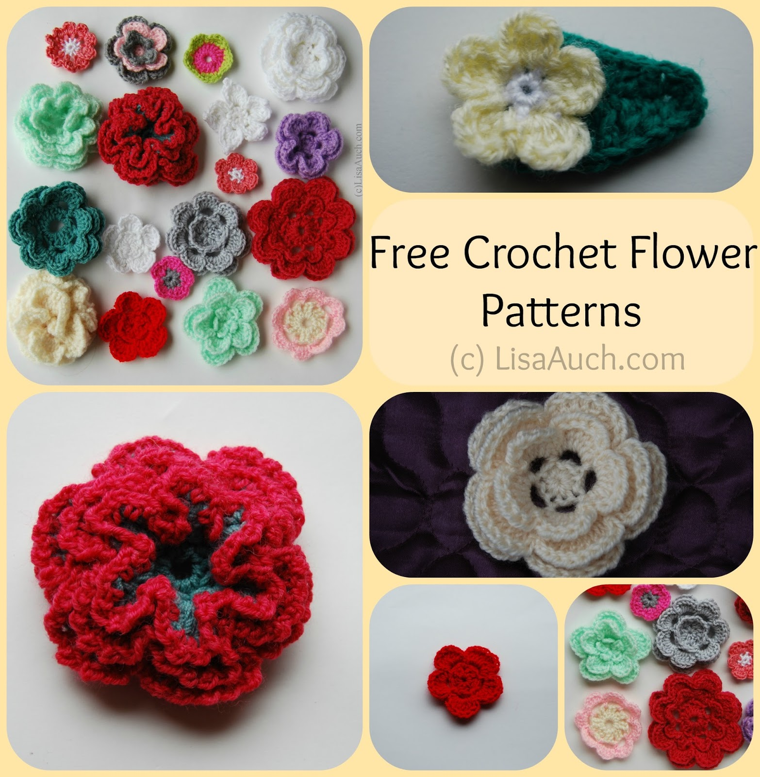 Free Crochet Flower Patterns : how to crochet a flower-crochet rose free crochet flower patterns