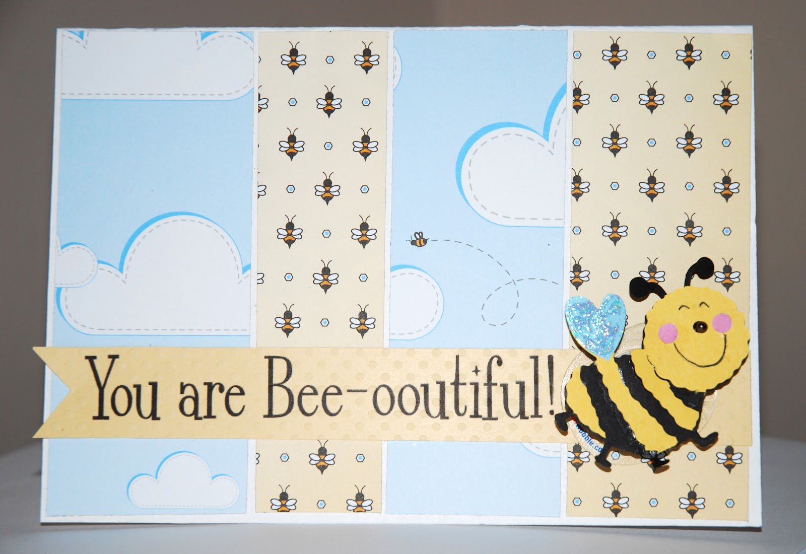 Scrapbook paper companies - To Make This Card I Used Stripes Of Designer Scrapbook Paper From One Of My Favorite Companies Nikki Sivils Scrapbooker In The Willow Bee Line