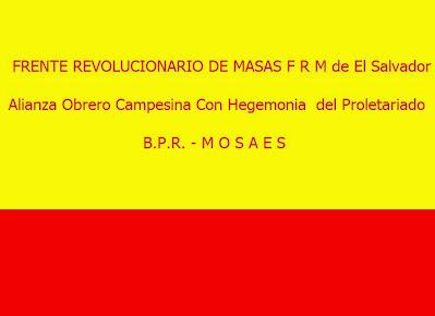 Frente Revolucionario de Masas F.R.M. de El Salvador