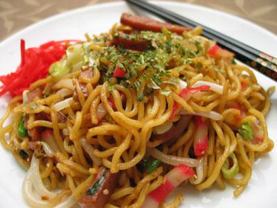 yakisoba are japanese stir fried noodles
