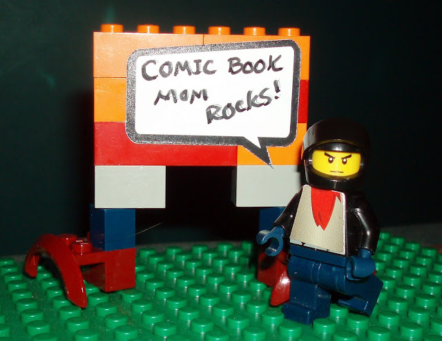 Comic Book Mom Rocks in Lego and BrickStix