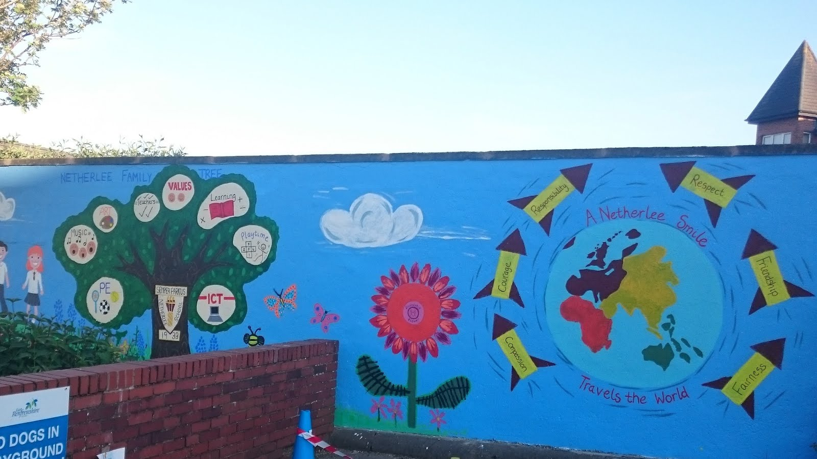 Netherlee primary school parent council june 2016 for Mural for school