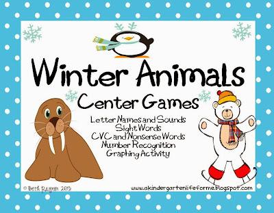 http://www.teacherspayteachers.com/Product/Winter-Animals-576758