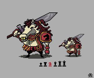 Chess Knight pixelart