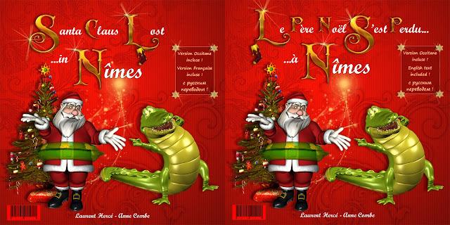Le Père Noël à Nîmes : la couverture du livre pour enfants