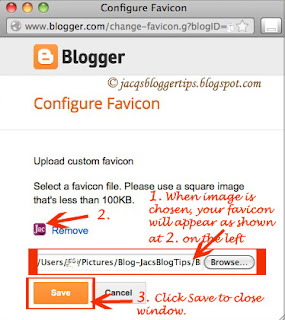 Screenshot to illustrate how to add custom favicon: step 5