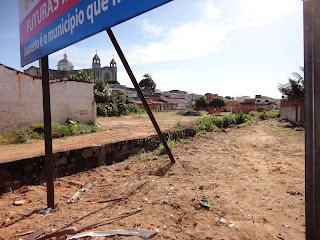 Área do futuro mercado São Benedito em Juazeiro do Norte.
