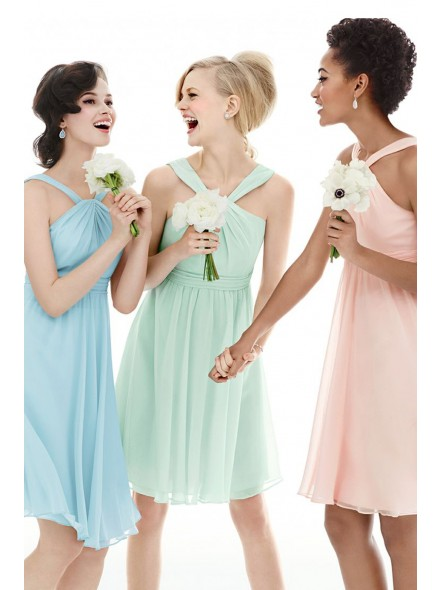 www.landybridal.co/sweet-straps-natural-mini-chiffon-green-sleeveless-bridesmide-dress-with-draped-lozm15039.html