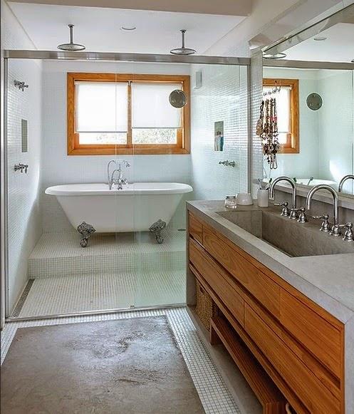 blog de decoração  Arquitrecos Banheiras vitorianas para um banho de rainha -> Banheiro Com Banheira E Chuveiro Planta