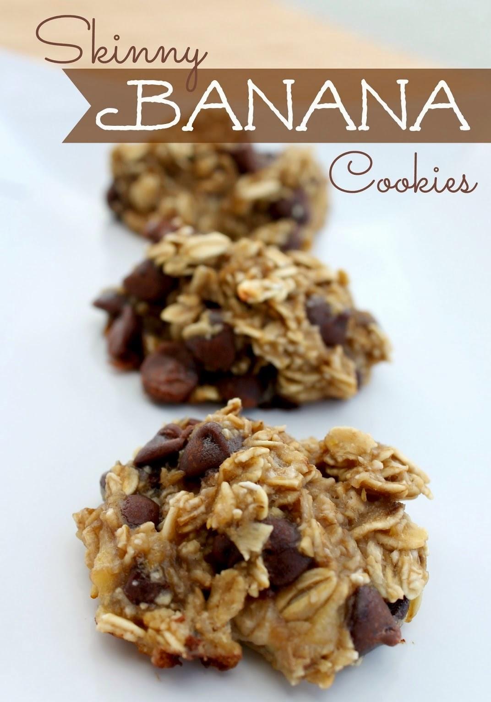 Skinny Banana Cookies - Cocinando con Alena