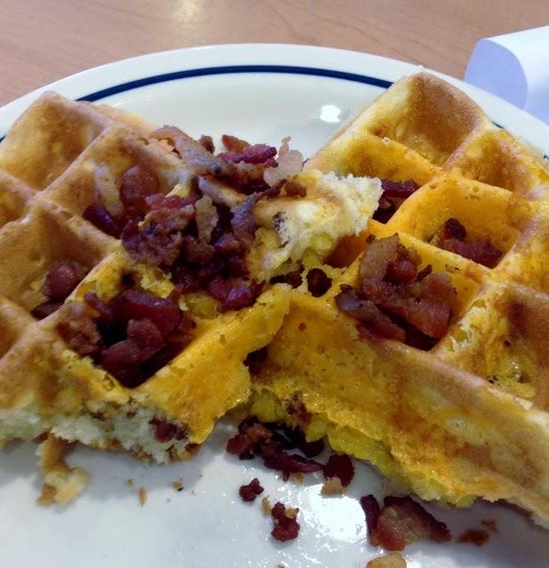 IHOP Bac' n' Cheddar waffle
