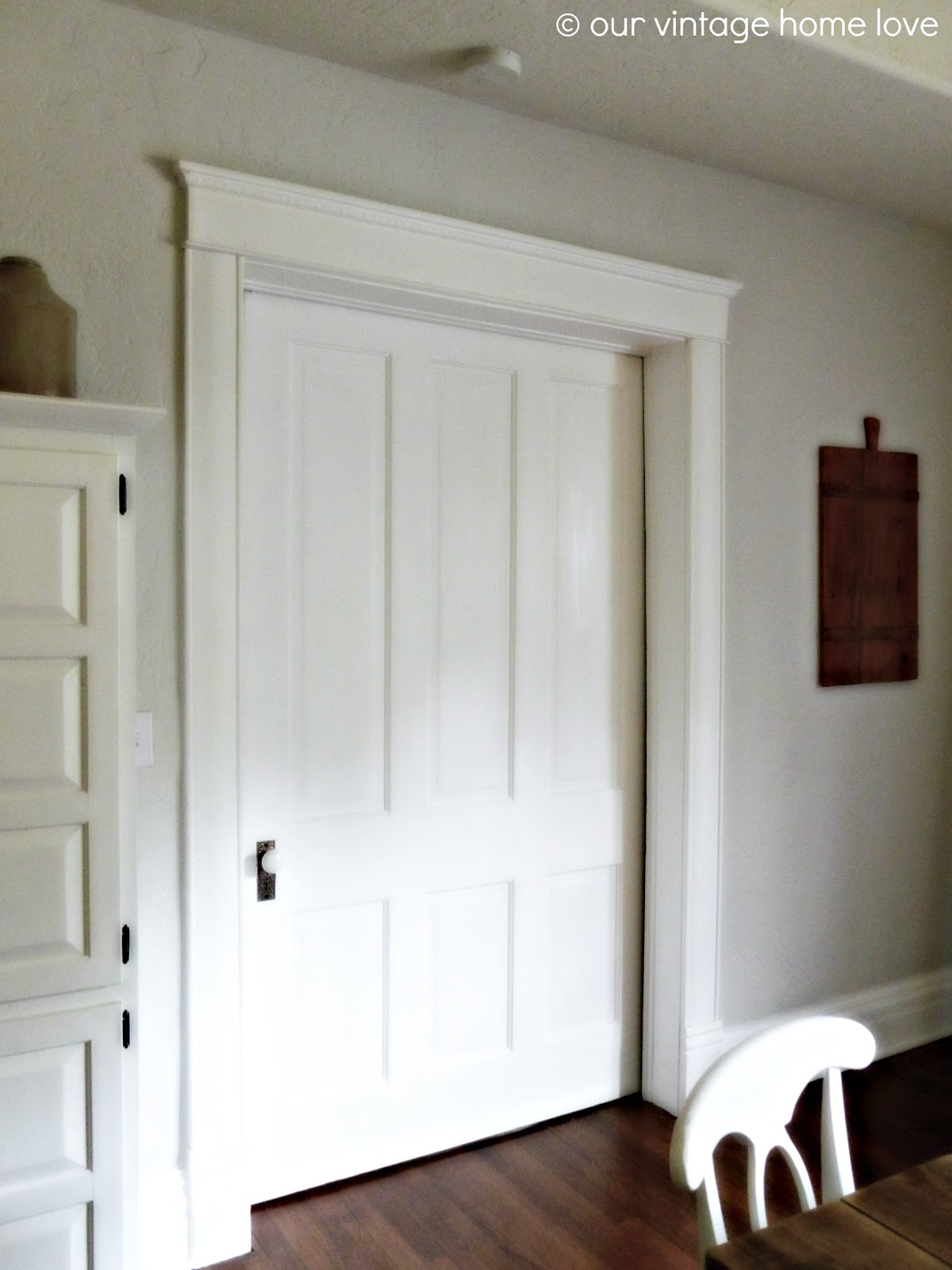 Vintage Home Love Pocket Doors And Porcelain Door Knobs