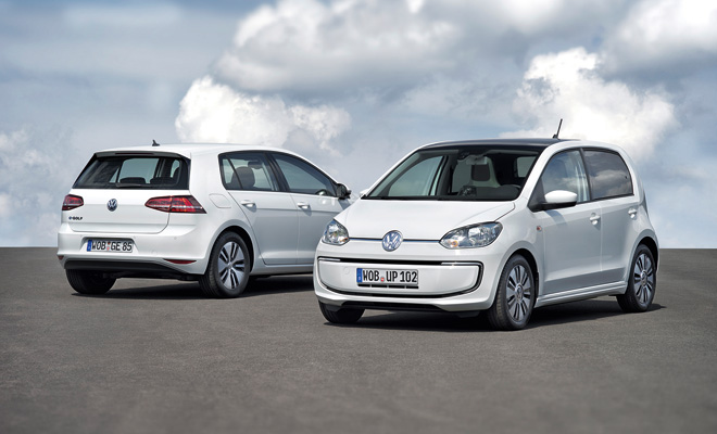 VW e-Up and e-Golf