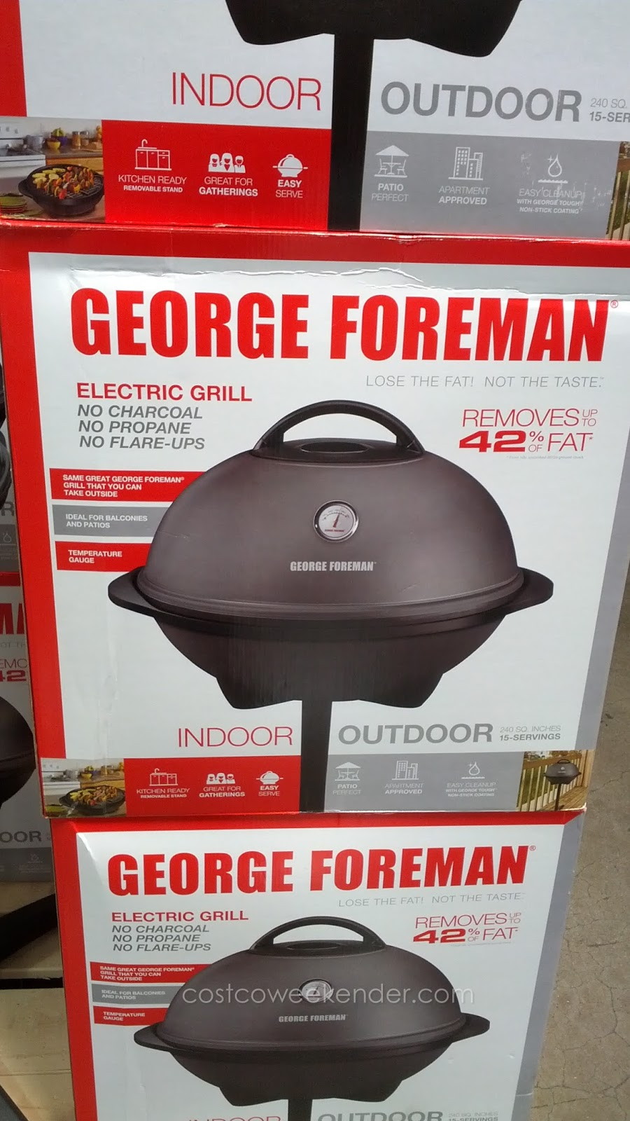 george foreman standing grill instructions