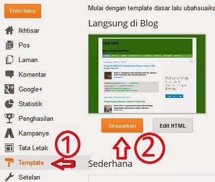 merubah ukuran huruf di blog