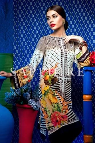 Khadijah Shah Luxury Pret 2015-16 for Sapphire