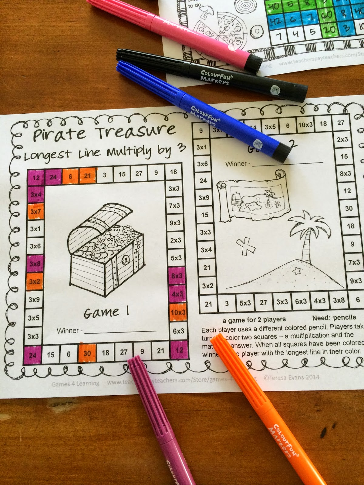 http://www.teacherspayteachers.com/Product/Multiplication-Games-NO-PREP-Longest-Line-1197085