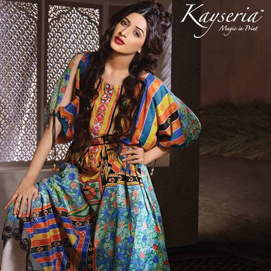 Fashion week Dazzling Extra prints by kayseria collection for girls