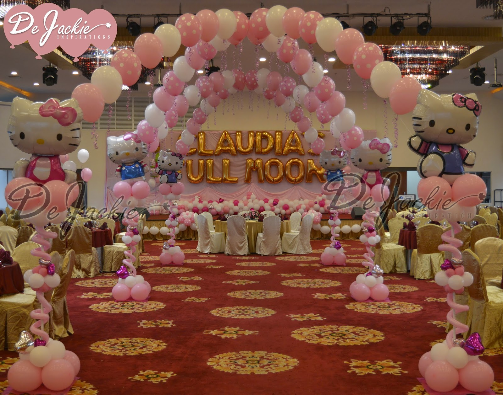 Balloon decorations for weddings birthday parties for Baby full moon party decoration