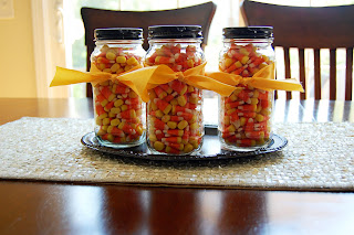 food gifts for halloween: candy corn {jar}