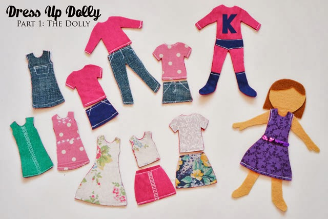 Make a Felt Dress Up Dolly