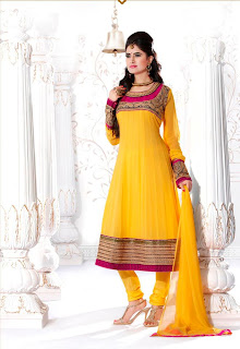 yellow party wear dress