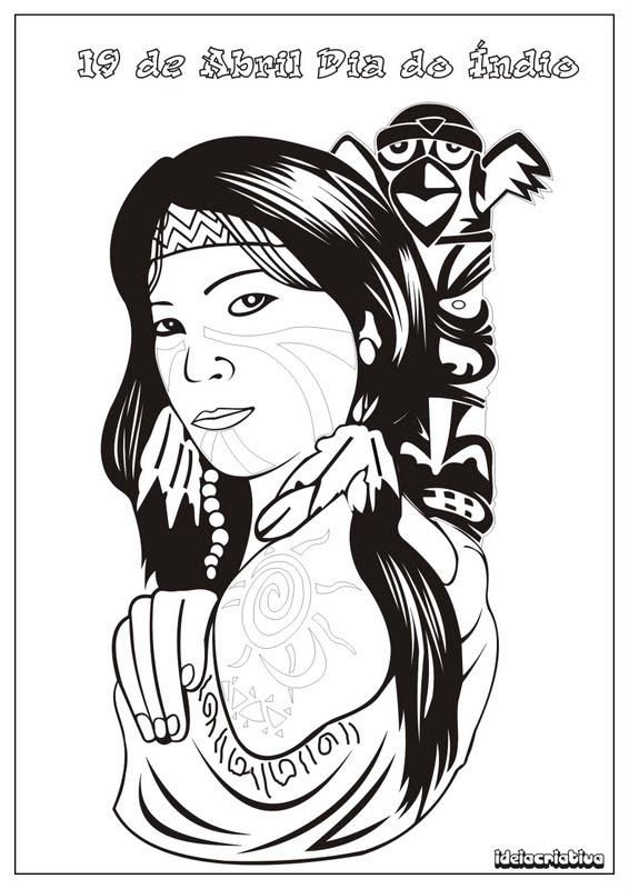blog jonathan cruz dia do Índio desenhos para colorir