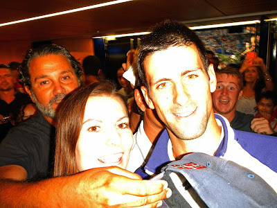 Bernadett with Novak Djokovic