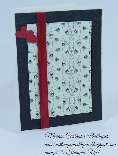 Miriam Castanho Bollinger, #mstampinwithyou, stampin up, demonstrator, sssc, wedding card, timeless elegance dsp, texture boutique machine, filigree frame tief, itty bitty accents punch, su